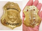 Private Security Guard Badge Gold